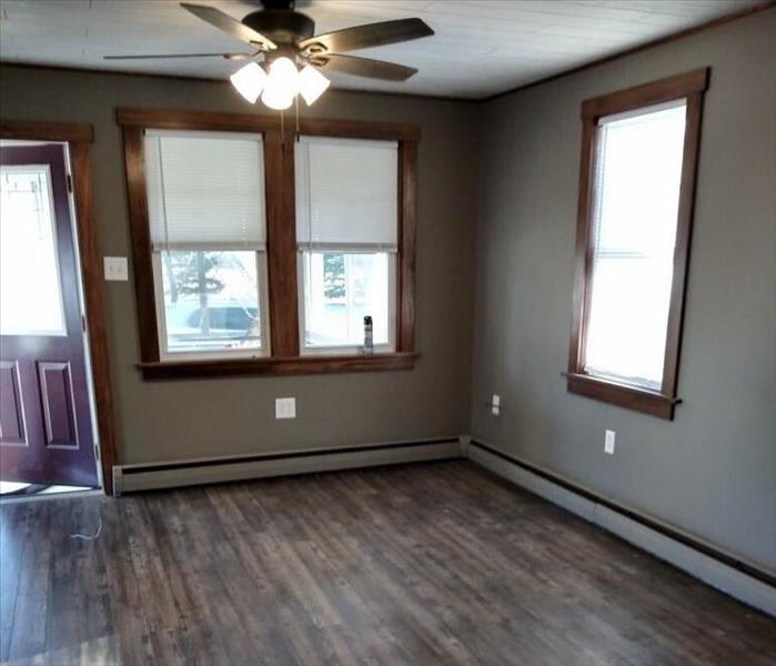 Brand new flooring, ceiling, painting and wood casing.