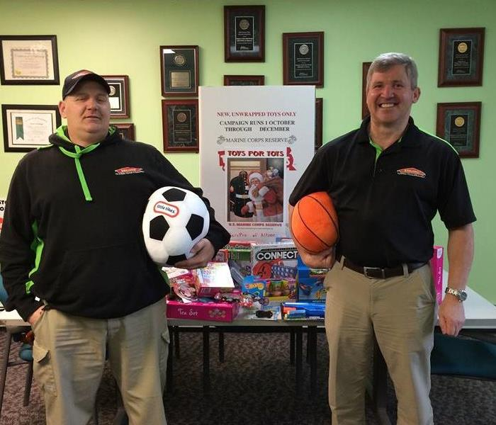SERVPRO of Altoona donating toys to our local Toys for Tots.