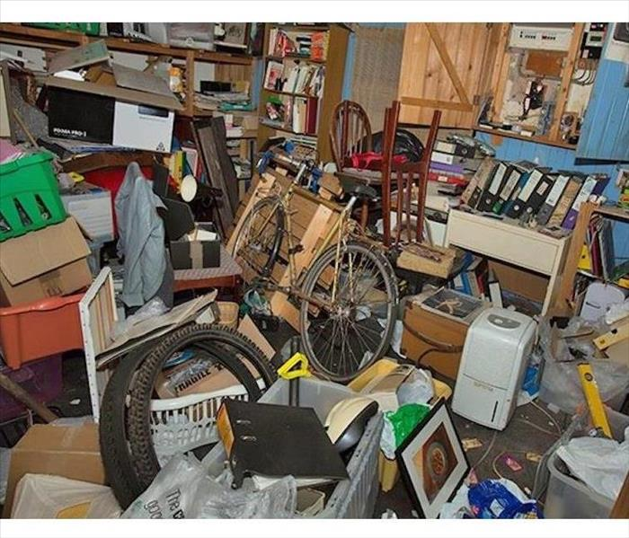 The hoarding of belongings in someone's home.