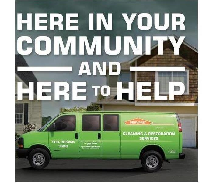 SERVPRO is here in your community and here to help.