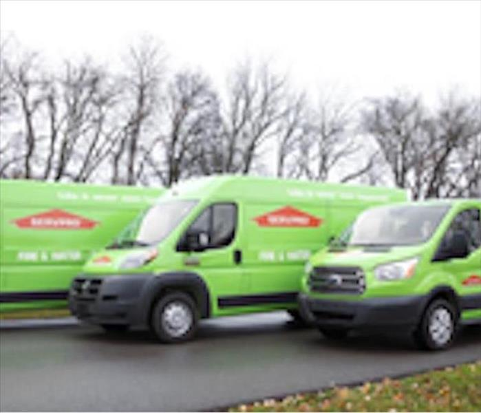 SERVPRO vans loaded with equipment-ready to help!